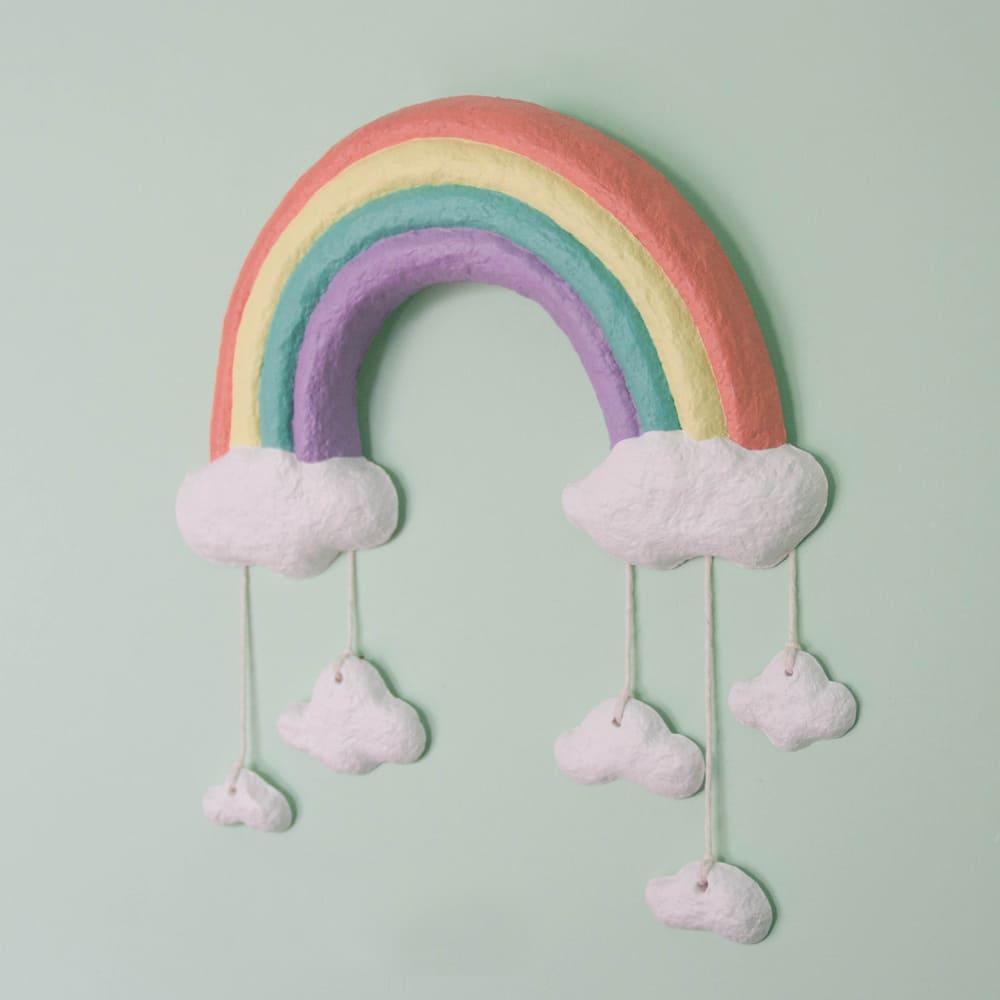 arcoiris colgante cuarto bebé